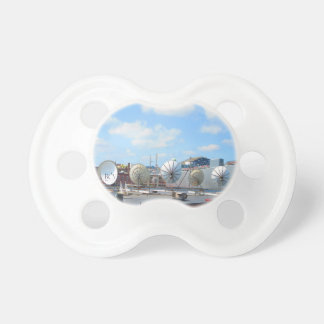 Boston city dish cable antenna roof top building pacifier
