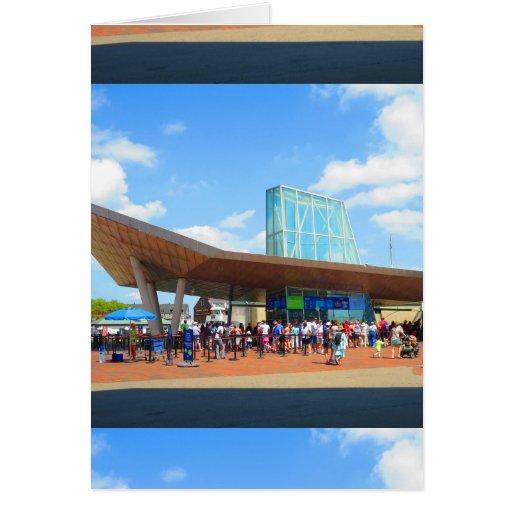 Boston City Famous Aquarium View From Bus Window Card Zazzle