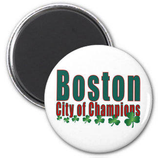 Boston City of Champions 2 Inch Round Magnet
