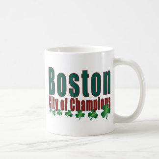 Boston City of Champions Classic White Coffee Mug