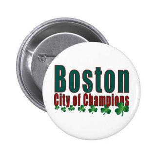 Boston City of Champions Pinback Buttons