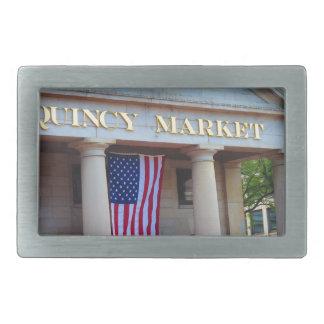 BOSTON City QUENCY Market Bus Tour views Rectangular Belt Buckles