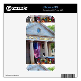 BOSTON City QUENCY Market Bus Tour views iPhone 4 Decal