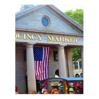 BOSTON City QUENCY Market Bus Tour views Postcard