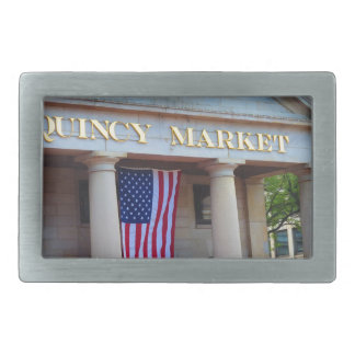 BOSTON City QUENCY Market Bus Tour views Rectangular Belt Buckle
