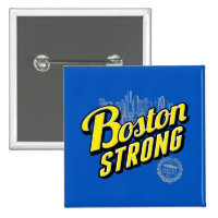 Boston City Strong Remembers 2 Inch Square Button