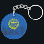 "Boston City Strong Remembers on Blue Decor Keychain<br><div class=""desc"">This Boston Strong remembrance style seal and cityscape custom gift for yourself or for someone special on your list. Here&#39;s a small sampling of our Boston Strong themed products. Use the &quot;Ask this Designer&quot; link to contact us with your special design requests or for some assistance with any of your...</div>"