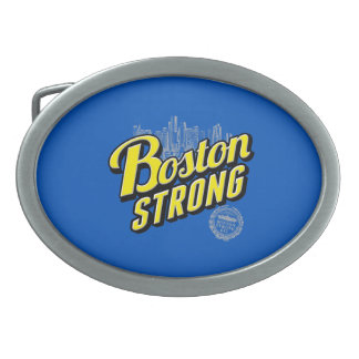 Boston City Strong Remembers on Blue Oval Belt Buckle