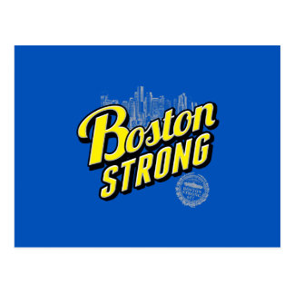Boston City Strong Remembers on Blue Postcard