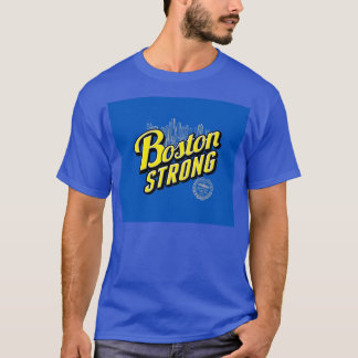 Boston City Strong Remembers on Blue T-Shirt