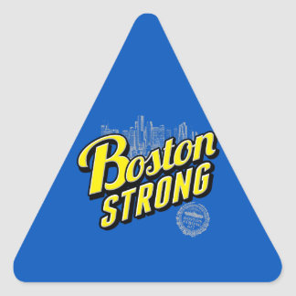 Boston City Strong Remembers on Blue Triangle Sticker
