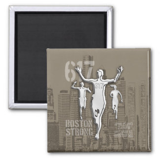 Boston City Strong Remembers on Taupe Decor Magnet