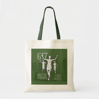 Boston City Strong Remembers Silver on Green Tote Bag