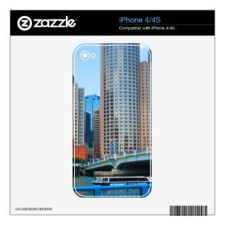 Boston  city Urban Landcape towers arcchitecture Decal For The iPhone 4