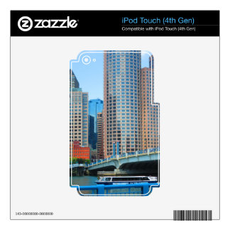 Boston  city Urban Landcape towers arcchitecture Decal For iPod Touch 4G