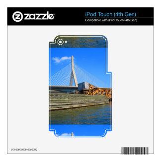 Boston City USA America Bridge view from Bus Tour Skin For iPod Touch 4G