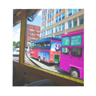 Boston City USA America Bus Tour City Views Notepad