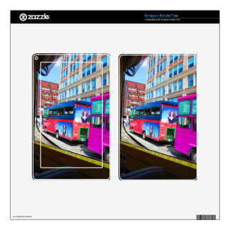 Boston City USA America Bus Tour City Views Skins For Kindle Fire