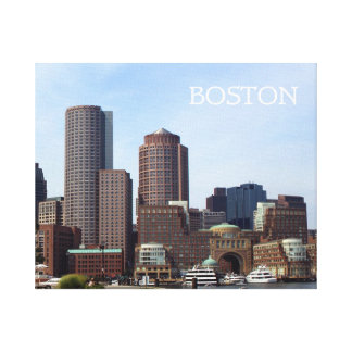 Boston City Waterfront Gallery Wrapped Canvas