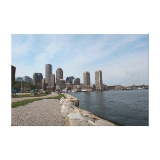 Boston City Waterfront - Large Canvas Print