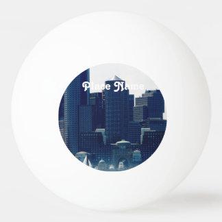 Boston Cityscape Ping Pong Ball