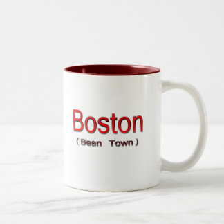 Boston (ciudad) de la haba 2 taza dos tonos