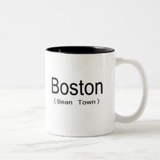 Boston (ciudad de la haba) taza dos tonos