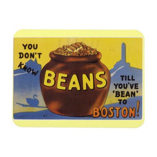 Boston coció habas imán de vinilo