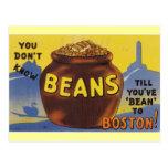 Boston coció habas postal