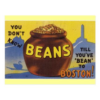 Boston coció habas tarjeta postal