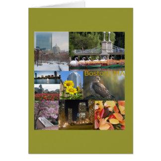 Boston, collage de la foto del mA de Celeste Tarjeta Pequeña