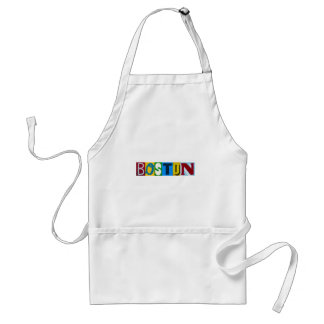 Boston Colorful  Letters Adult Apron