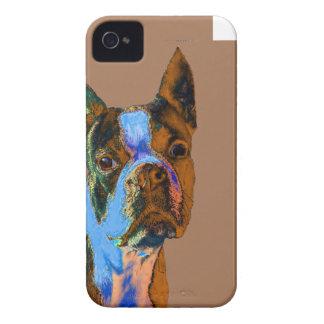 Boston colorida Terrier Carcasa Para iPhone 4 De Case-Mate