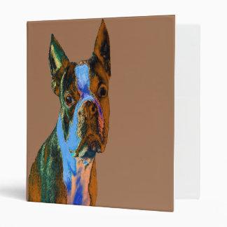 "Boston colorida Terrier Carpeta 1"""