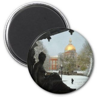 Boston Common 2 Inch Round Magnet