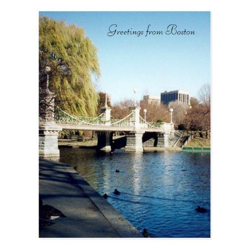 boston common bridge postcard
