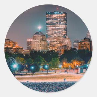 Boston Common Classic Round Sticker