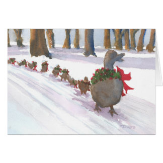 Boston Common Ducks Dressed Up Holiday Card