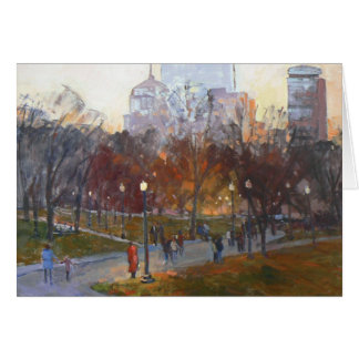 """Boston Common"" Greeting Card"