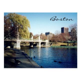 boston common lake postcard