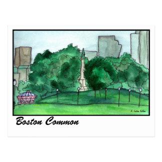 Boston Common Postcard