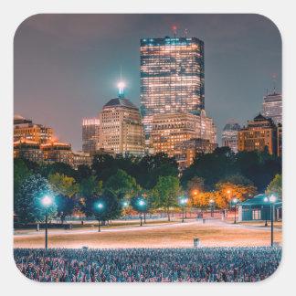 Boston Common Square Sticker