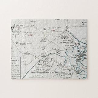 BOSTON-CONCORD MAP, 1775 JIGSAW PUZZLE