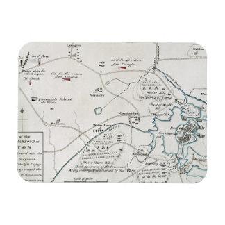 BOSTON-CONCORD MAP, 1775 MAGNET