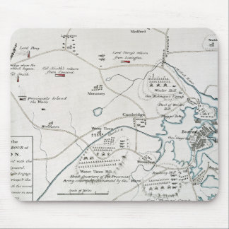 BOSTON-CONCORD MAP, 1775 MOUSE PAD