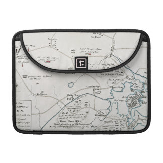 BOSTON-CONCORD MAP, 1775 SLEEVE FOR MacBook PRO
