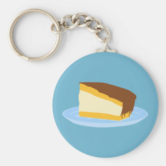 Boston Cream Pie Basic Round Button Keychain