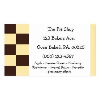 Boston Creme Pie Colors Double-Sided Standard Business Cards (Pack Of 100)