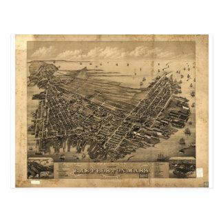 Boston del este, Massachusetts en 1879 Postal
