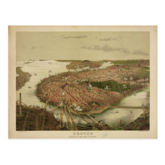 Boston del norte Massachusetts 1877 de Juan Tarjetas Postales